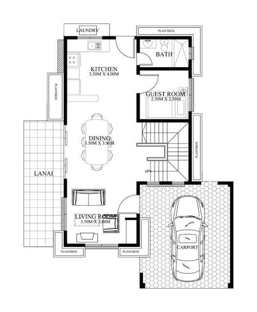 5 Home Plan Ideas 8x13m 9x8m 10x13m 11x12m House Plan Map Two Story House Design Modern House Floor Plans Home Design Plan
