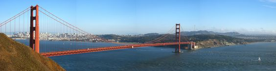 Panorama of the Golden Gate (using stitching function on my camera)