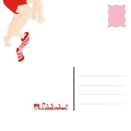 Wickelinchen. Postkarte, 14,8x14,8
