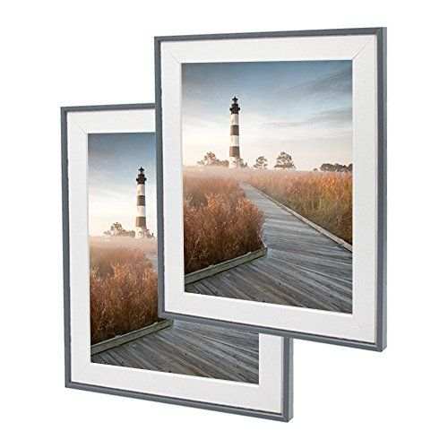 Sumgar 10x12 Picture Frames Set Made To Display Photos 8x10 With White Wooden Mat In Black Grey Thin E Picture Frame Sets Picture Frame Display Photo Displays 10 x 12 picture frame