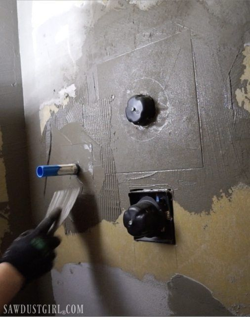 Waterproof Shower Wall Board Installation Sawdust Girl Shower Wall Board Waterproof Bathroom Wall Panels Waterproofing Shower Walls