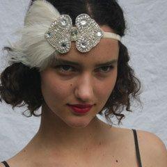 GREAT GATSBY Wedding Headpiece 1920s Bridal by GothamCityStyle