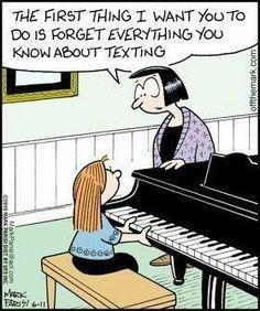 Texting Piano Lesson