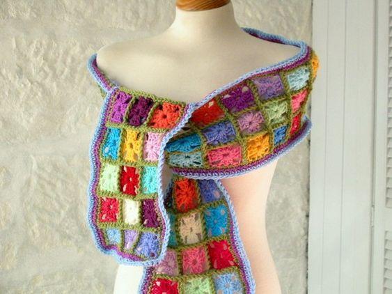 crochet square scarf