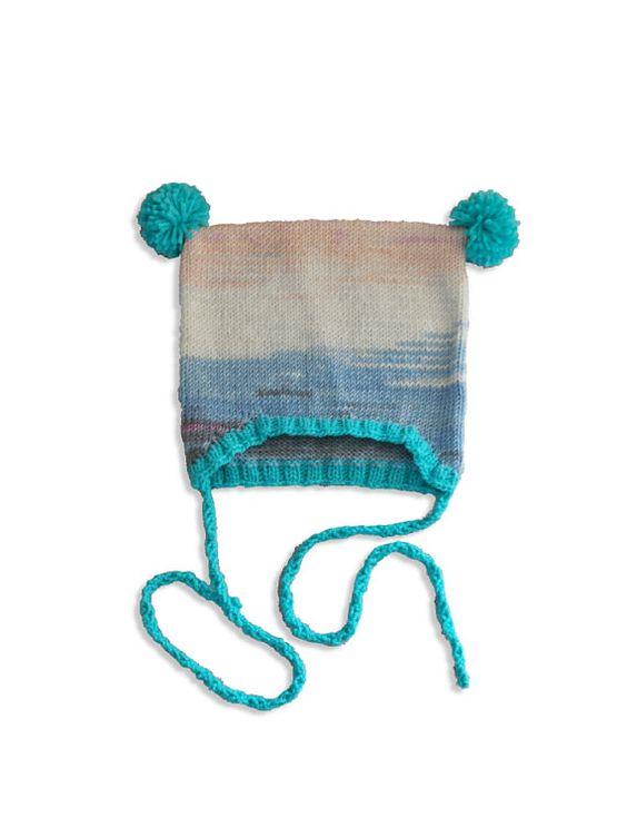 Pompom baby hat knitting pattern Kids by DeborahGraceDesigns