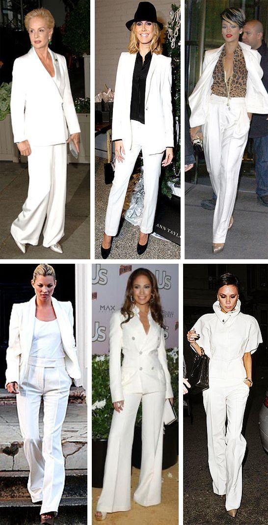 Women S Winter White Pant Suits