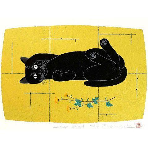 Wake Up | woodblock print, 1942 | Tadashige Nishida