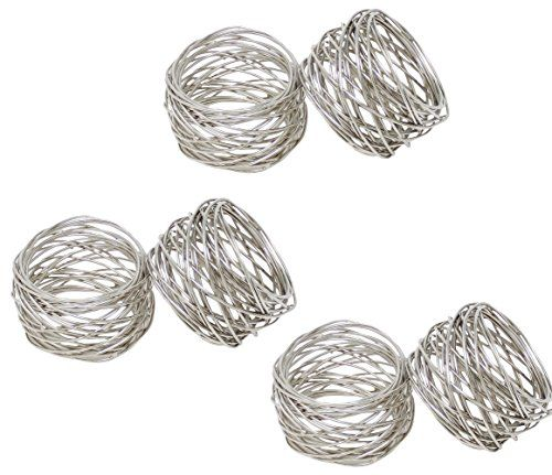 ITOS365 Handmade Round Mesh Napkin Rings Holder for Dinning Table Parties Everyday Set of 4