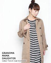 GRANDMA MAMA DAUGHTER [グランマ・ママ・ドーター] コットン トレンチコート