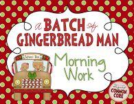 A Batch of Gingerbread Man Morning Work