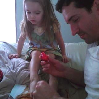 Their daughter's nails too. | 19 Things Dads Do That You Won't See In Popular Culture
