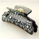 Veronique Black - Cubitas Bellini Collection (Hair Jewelry, Swarovski Crystals, Claw Clip)