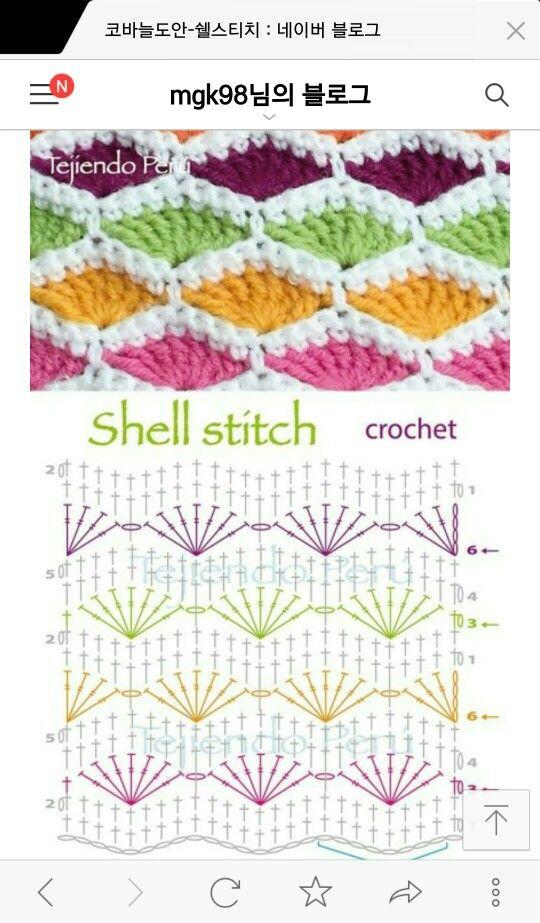 similar stitch... | crochet | Pinterest | Ganchillo, Puntadas y Tejido