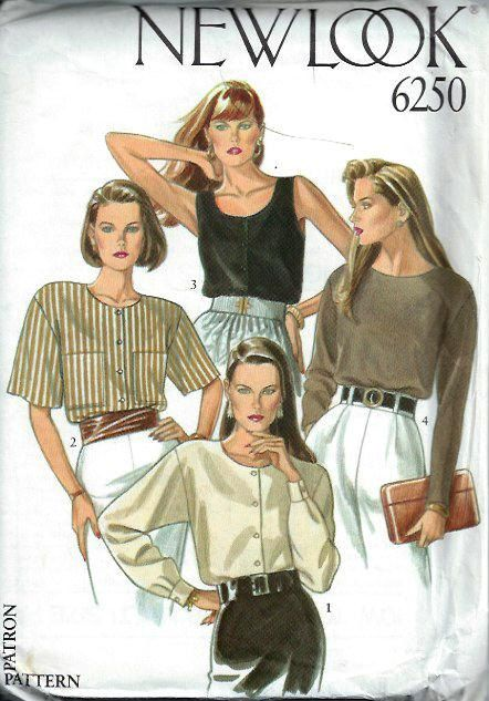 Misses Top and Blouse Pattern New Look 6250 by DawnsDesignBoutique, $7.00