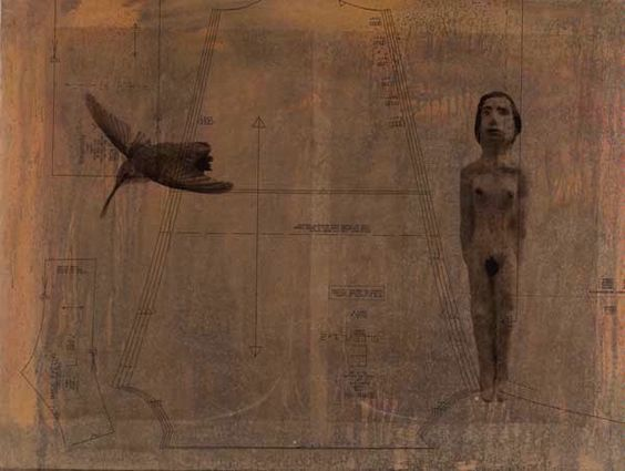 Holly Roberts - WOMAN-WITH-HUMMINGBIRD-2011