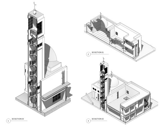 job done by me as design and drawings for mosque in bahrain revit