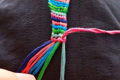 Como hacer pulseras de macrame con hilo de bordar