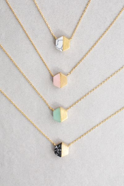 Hexa Stone Necklace: