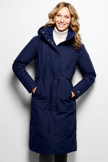 Women&39s Commuter Down Long Coat | Coats Products and Land&39s end