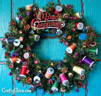 Crafter's holiday Wreath by Crafty Chica