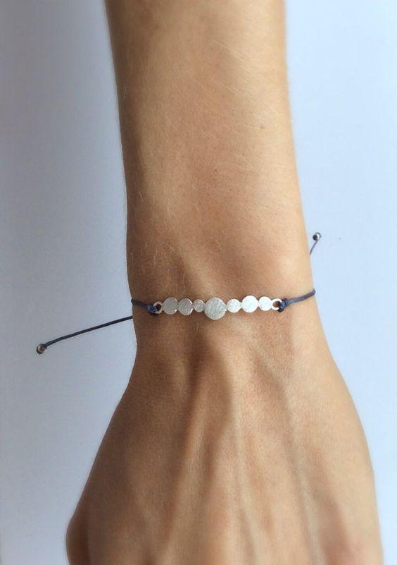 Meer Kiesel Armband Sterling silber Armband von molokoplusjewelry