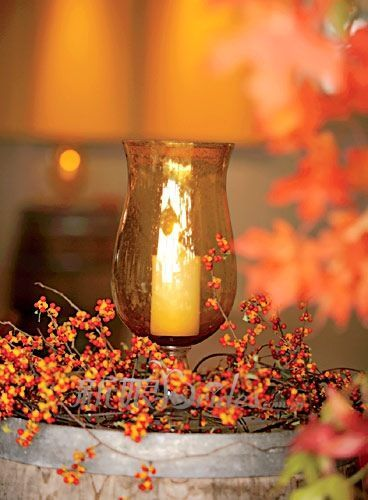 Centerpieces fall wedding and on