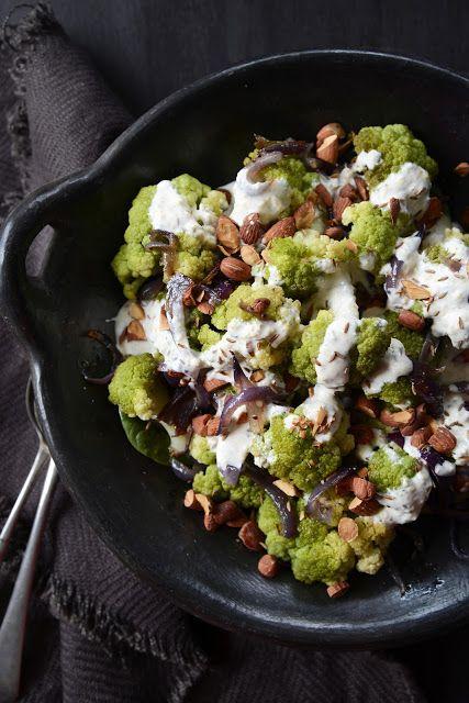 Broccoflower Salad with Cumin, Lemon & Garlic Yoghurt Dressing and ...