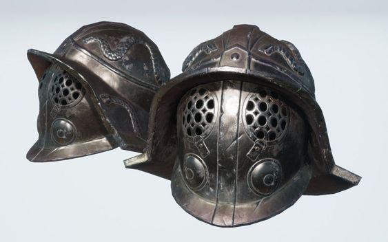 Traditional Gladiator Helmet--one variation