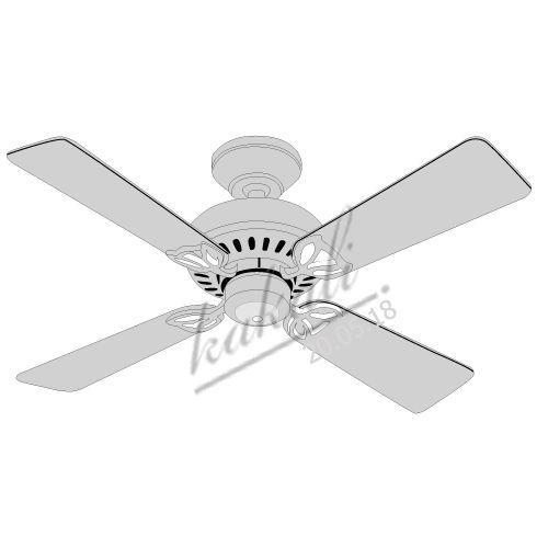 Vector Ceiling Fan Draw With Adobe Illustrator Original