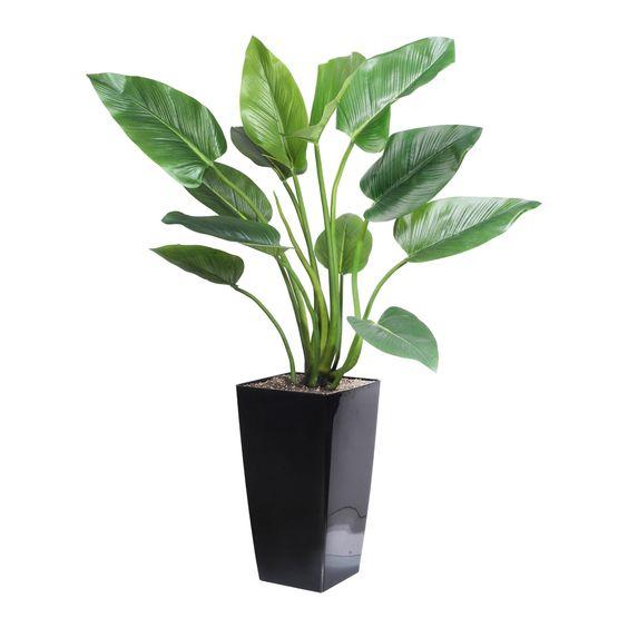 Industrial Style - Akzente setzen mit Curcurmablatt: künstliche Blattpflanze - ca. 120 cm hoch -  Produktnummer: 500039-850-00-023