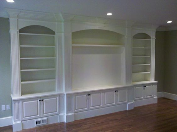 Built-in Book Shelves And Focal Point For Art Or TV.
