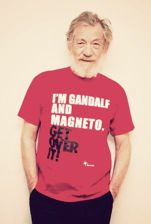 Ian McKellen m/ (Saw him on Today or was it GMA? I don't ...