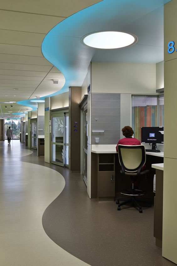 seattle children 39 s hospital building hope inpatient tower corridor led