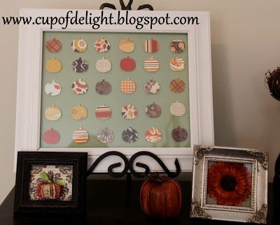 Cup of Delight: Pin There, Done That: Mini Book Page Pumpkin Art {Delightfully Creative}