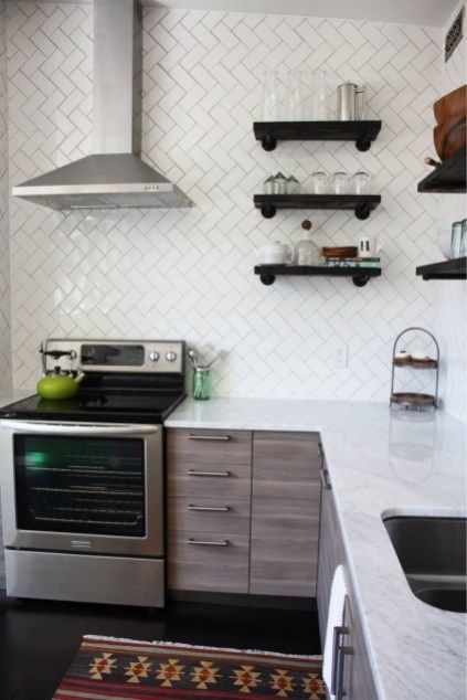 Diy Simple Kitchen Open Shelves Decorating Ideas 12 Diy Kitchen Backsplash Diy Kitchen Renovation Diy Storage Rack