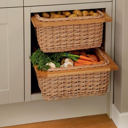 Store all your fresh fruit and vegetables in these wicker baskets ...