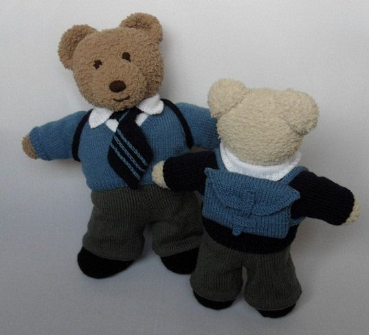 TEDDY Bear CLOTHES Boys School Uniform knitting pattern DOWNLOAD Boys Schoo...