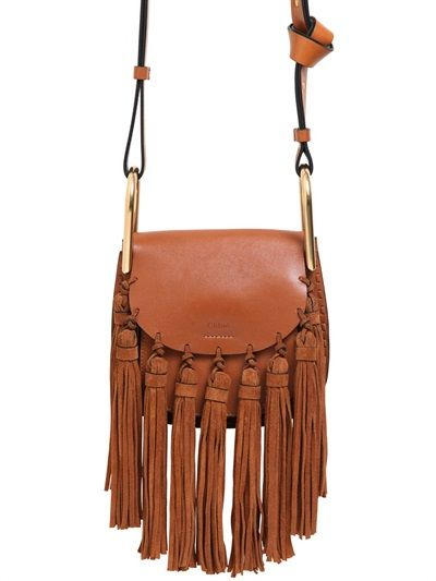 cloe bags - CHLO�� - MINI HUDSON LEATHER BAG W/ SUEDE TASSELS - LUISAVIAROMA ...