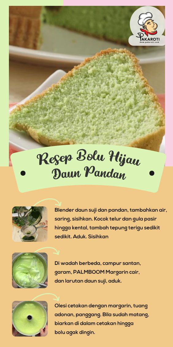 Resep Bolu Hijau Daun Pandan Ide Makanan Resep Makanan Dan Minuman