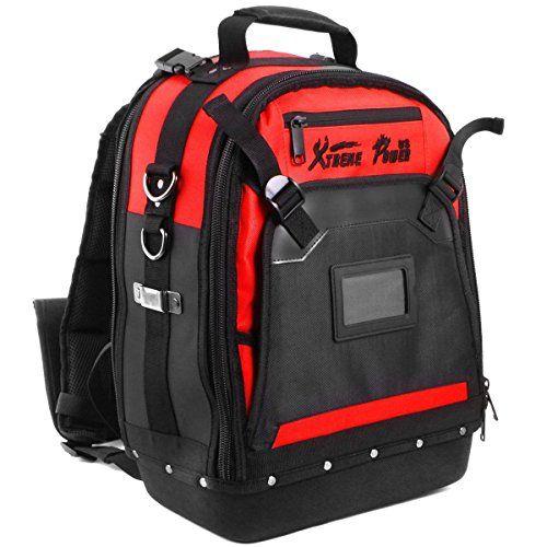Jobsite Backpack Tool Milwaukee Storage Bag Heavy Duty Construction Book-Bag