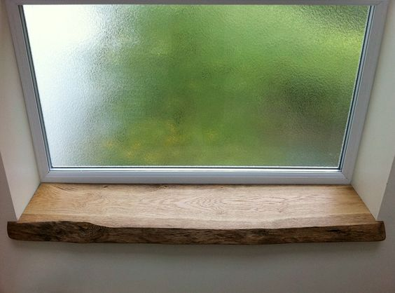 tablette de fen tre bois brute ambiance g n rale. Black Bedroom Furniture Sets. Home Design Ideas