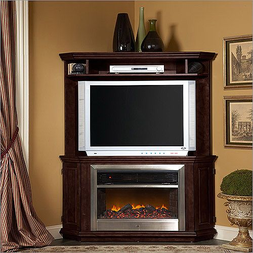 Stone Fireplace With Cabinets: Corner Fireplace Tv Stand
