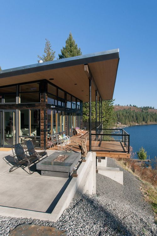 Swooning over Uptic Studio's Modern Cabins and Woodsy Homes Hammer_20b2.jpg  | Getaway Houses: Woodsy Cabin | Pinterest | Cabin, Modern and Lakes