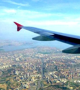 Flying over Istanbul. Is Turkey's number 1 airline really Number One?  Review Turkish Airlines.