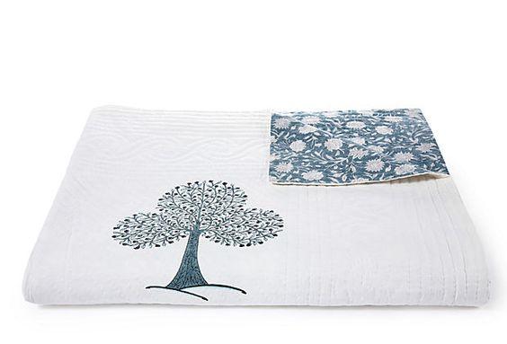 Quilts! Reversible Floral/Tree King Quilt on OneKingsLane.com