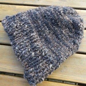 Bonnet côtes 1/1 et jersey, tricoté en rond