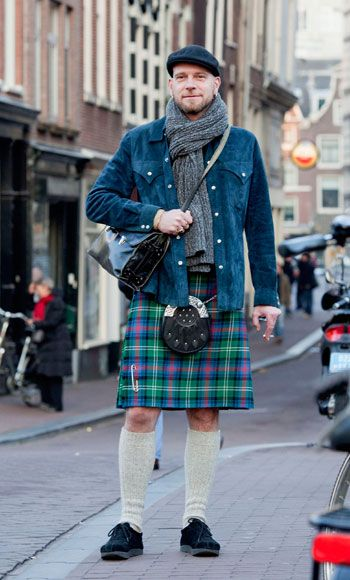 Let's popularize the men's skirt! Ummm, excuse me... it's a kilt unless he wears something under it and then it's a skirt.