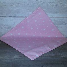 Mouchoir en tissu doublé, 100% coton motifs petites étoiles