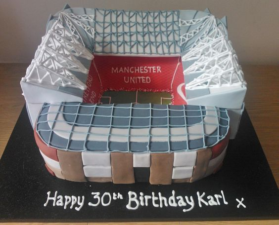 Manu Cake Design : Old Trafford birthday cake for a Manchester United fan ...