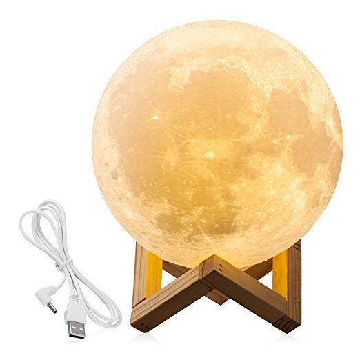 Amazon Com Cpla Lighting Night Light Led 3d Printing Moon Lamp Warm And Cool White Dimmable Touch C Decorative Night Lights Night Light Lamp Moon Light Lamp